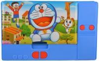 Hyde & Seek JUMBO-04 BIG SIZE Multipurpose Magnetic Pencil Box (Doraemon), JUMBO MUTLIPURPOSE PENCIL BOX, MAGNETIC DUAL SIDE SPACIOUS PENCIL BOX Art Plastic Pencil Box(Set of 1, Blue)
