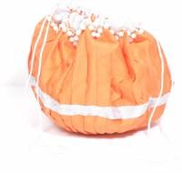 Srmgifts HANDMADE DESIGNER WHITE GOTA MOTI BIG ROUND BAG (SET OF 10 MULTICOLOR) Potli(Multicolor)