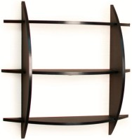 View The New Look HALFMOONNL1 MDF Wall Shelf(Number of Shelves - 3, Brown) Furniture (The New Look)