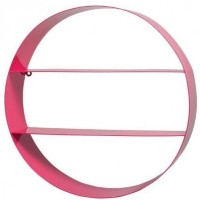 View Qesyas Iron Wall Shelf(Number of Shelves - 1, Pink) Furniture (Qesyas)