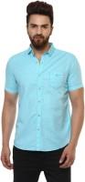 Mufti Men Printed Casual Blue Shirt