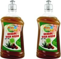 Aloe clean Herbal Dish Wash & Slab Gel(Pack of 2) - Chemical Free Dish washing Detergent + Reetha + Aloe Vera Juice + Lemon Oil Dish Cleaning Gel(Aloe Vera, 500 ml)
