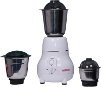 Electromax Matka 600 Mixer Grinder(White, 3 Jars)