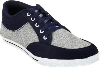 Shoe Island Trendy Navy Blue 'n' Grey Sneakers(Navy, Grey)