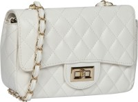 Bagkok Women White PU Sling Bag