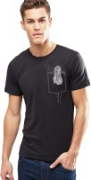 Young Trendz Printed Men's Round Neck Black T-Shirt
