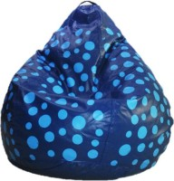 View sudesh decor XXL Blue Dotted Bean Bag  With Bean Filling(Blue, Multicolor) Furniture (sudesh decor)