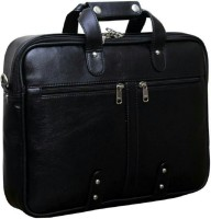 Leatherworld LW00930A Medium Briefcase - For Men & Women(Black)