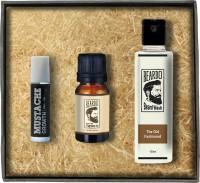 Beardo The Old Fashioned Beard & Hair Fragrance Oil- Beard Wash - Moustache Growth Roll on Combo Set(Set of 3)