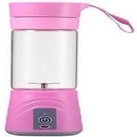 kviya Portable USB Rechargeable Blender 12 W 0 Juicer Mixer Grinder(Pink, 1 Jar)