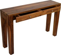 View TimberTaste CONY Hall Table Solid Wood Console Table(Finish Color - Natural TEak) Furniture (TimberTaste)