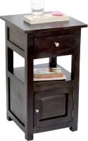 View TimberTaste TANYA Solid Wood Side Table(Finish Color - Dark Walnut) Furniture (TimberTaste)