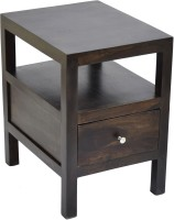 View TimberTaste COLA Solid Wood Side Table(Finish Color - Dark Walnut) Furniture (TimberTaste)
