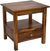 View TimberTaste SIMPO Solid Wood Side Table(Finish Color - Natural Teak) Furniture (TimberTaste)