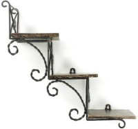 View Huzain Handicrafts rack shelf Wooden Wall Shelf(Number of Shelves - 3, Brown) Furniture (huzain handicrafts)