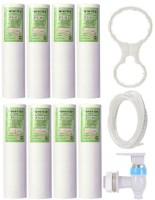 BalRama Kemflo Spun Filter PP Candle Kemflow 10 Inch Prefilter Inline Cartridge Pipe Tube Tap Faucet Spanner Key RO Water Purifier Service for Tap Mount Water Filter