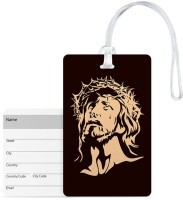 100yellow Luggage Tags- Lord Jesus Print High Quality Pvc Tag With Silicon Strap- Ideal For Travel Luggage Tag(Multicolor)