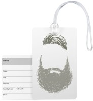 100yellow Luggage Tags -Beard Print Premium Quality Pvc With Silicon Strap Card Bag Tag - Great For Travel Luggage Tag(Multicolor)