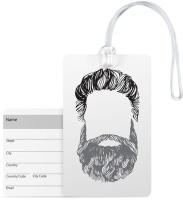 100yellow Beard Print Luggage Tags Premium Quality Pvc With Silicon Strap Card Bag Tag - Great For Travel Luggage Tag(Multicolor)