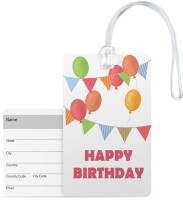 100yellow Luggage Tags- Happy Birthday Printed Pvc Baggage/Bag Tag With Silicon Strap- Ideal For Gift Luggage Tag(Multicolor)