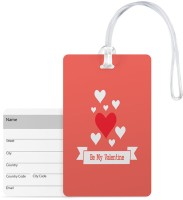 100yellow Luggage Tags- Be My Valentine Printed High Quality Pvc Tag With Silicon Strap- Ideal For Gift Luggage Tag(Multicolor)
