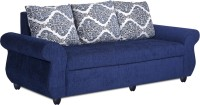 View Bharat Lifestyle Alisa Fabric 3 Seater(Finish Color - Blue) Furniture (Bharat Lifestyle)