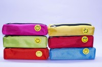 Shopkooky Best quality Pack 6 Smiley, Self designed Art Artificial Leather Pencil Boxes(Set of 6, Multicolor)