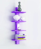 View The New Look 4TIER3 MDF Wall Shelf(Number of Shelves - 4, Purple) Furniture (The New Look)