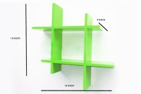 View The New Look HASHGR MDF Wall Shelf(Number of Shelves - 2, Green) Furniture (The New Look)