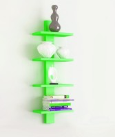 View The New Look 4TIER4 MDF Wall Shelf(Number of Shelves - 4, Green) Furniture (The New Look)