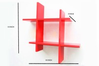 View The New Look HASHR MDF Wall Shelf(Number of Shelves - 2, Red) Furniture (The New Look)