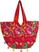 Saashiwear Women Red Velvet Shoulder Bag