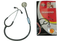 NSC Diamond Best Quality Acoustic Stethoscope(Black,grey)