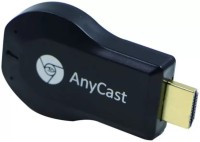 KUMARRETAIL RS Anycast Black Airplay Miracast DLNA HDMI WiFi Chorome Display Dongle-BK10 Media Streaming Device Data Card(Black)