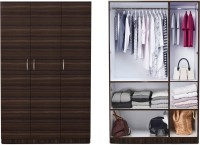 View Auspicious Home Havelock Engineered Wood 3 Door Wardrobe(Finish Color - Wenge & White) Furniture (Auspicious Home)