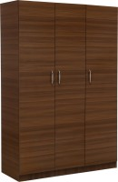 View Auspicious Home Easter Engineered Wood 3 Door Wardrobe(Finish Color - Teak & White) Furniture (Auspicious Home)