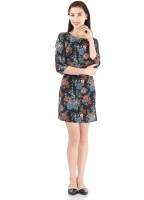 Pepe Jeans Womens Fit and Flare Black Dress