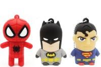 Green Tree Spiderman, Batman, Superman 16 GB Pen Drive(Multicolor)