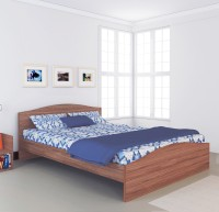 View UNiCOS Dzire Engineered Wood Queen Bed(Finish Color -  Walnut) Furniture (UNiCOS)