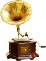 Heinibeg Heinibeg Premium Wooden Brass Gramophone Wooden Gramophone(Yes)