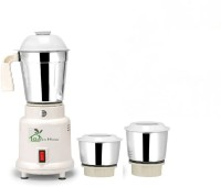 Green Home Lotto White 450 Mixer Grinder(White, 3 Jars)