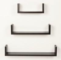 View saifix MDF Wall Shelf(Number of Shelves - 3, Brown) Furniture (saifix)