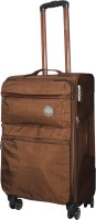 Satchi Club Italy 75 Cms 4 Wheel Soft Sided Water Resistnat Expandable  Check-in Luggage - 28 Inches(Brown)