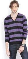 Gant Striped Mens V-neck Beige, Blue T-Shirt