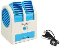 View Numex Mini Usb Fan Cooling Portable Desktop Dual NU063 USB Fan(Blue) Laptop Accessories Price Online(Numex)