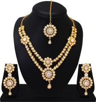 Atasi International Alloy Jewel Set(Gold, White)