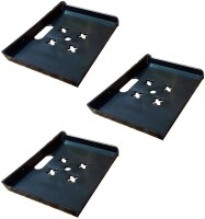 View MASTERFIT Set of 3,ST003 Polypropylene Wall Shelf(Number of Shelves - 3, Black) Furniture (Masterfit)