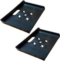View MASTERFIT Set of 2,ST003 Polypropylene Wall Shelf(Number of Shelves - 2, Black) Furniture (Masterfit)