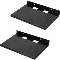 View MASTERFIT Set of 2,ST001 Iron Wall Shelf(Number of Shelves - 2, Black) Furniture (Masterfit)