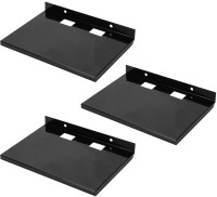View MASTERFIT Set of 3,ST001 Iron Wall Shelf(Number of Shelves - 3, Black) Furniture (Masterfit)
